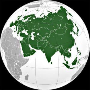 Материк Евразия — самый большой материк