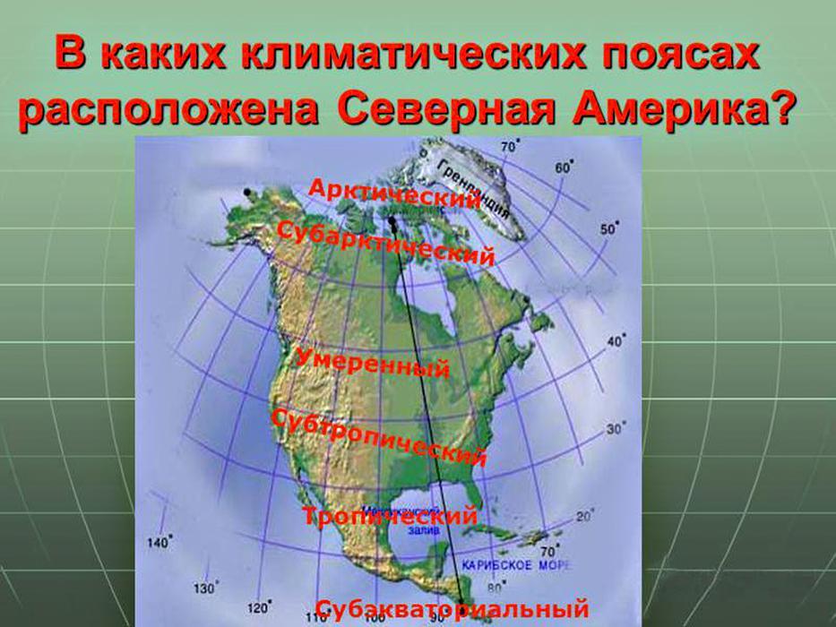 климат материк Северная Америка