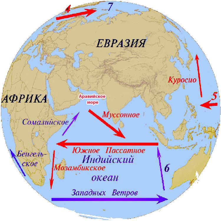 Аравийское море течения